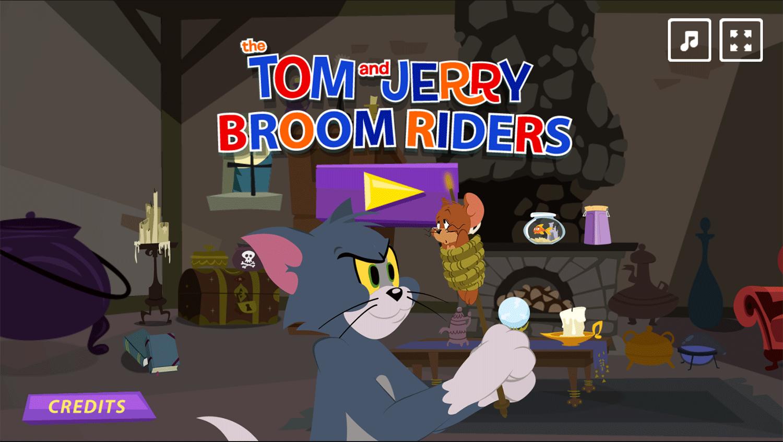 Tom and Jerry Broom Riders Welcome Screen Screenshots.