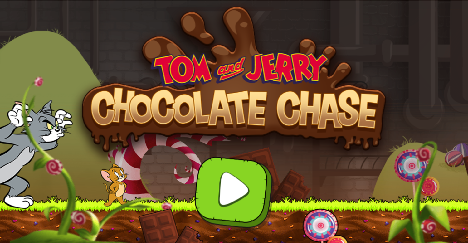 Tom and Jerry Chocolate Chase Welcome Screen Screenshot.
