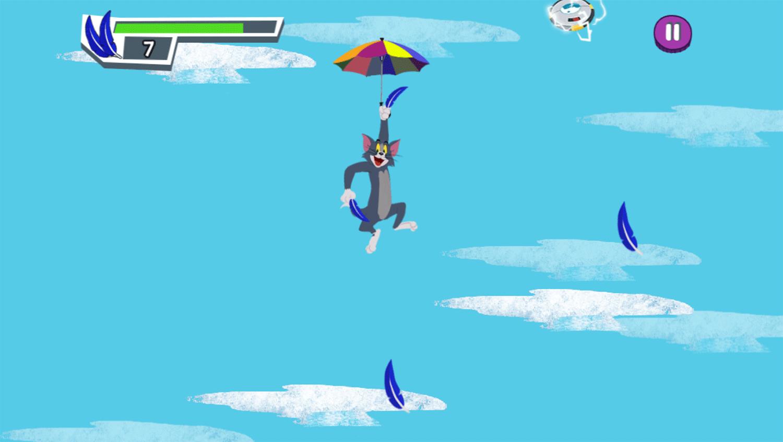 Tom and Jerry Freefalling Tom Game Screenshots.