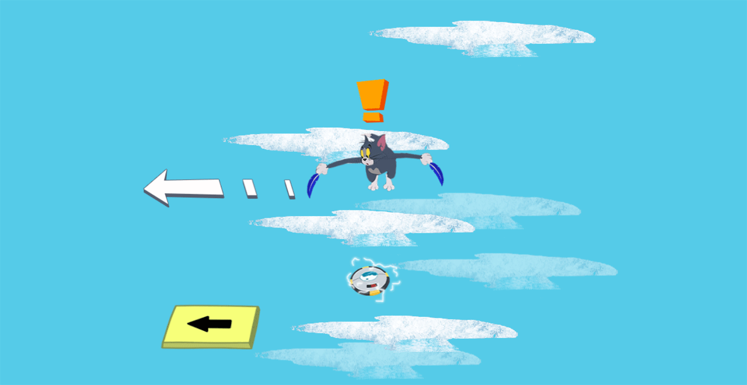 Tom and Jerry Freefalling Tom How To Play Screenshots.
