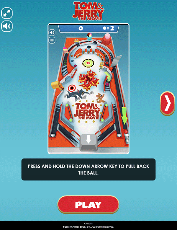 Tom and Jerry Mousetrap Pinball How To Play Screenshot.