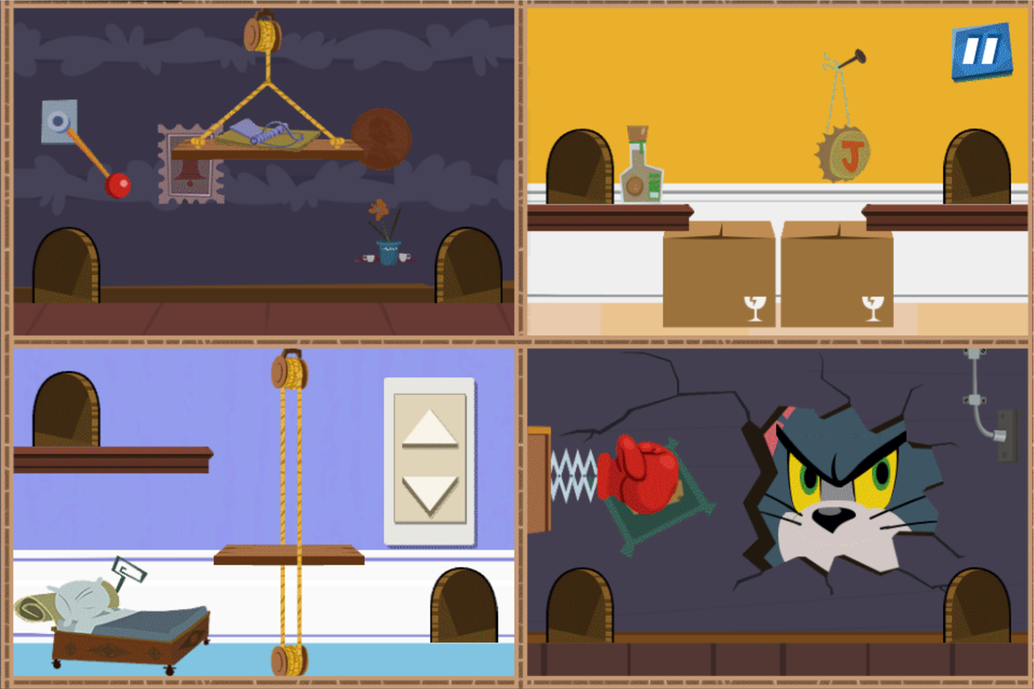 Tom and Jerry Puzzle Escape Level Screenshot.