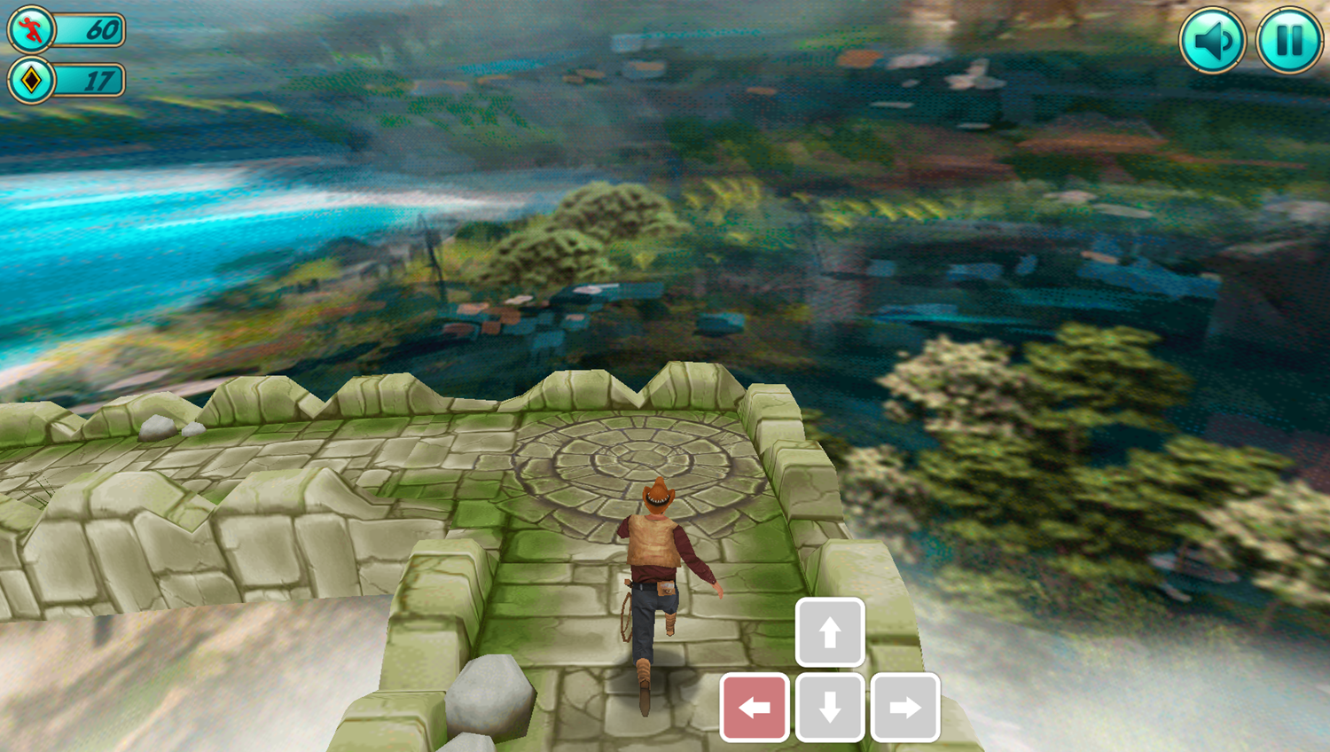Tomb Runner Game How To Move Left Screenshot.