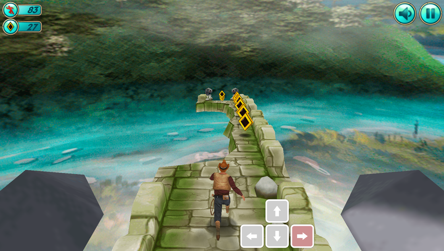 Tomb Runner Game How To Move Right Screenshot.