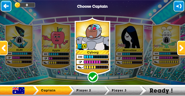 Toon Cup 2020 Character Select Screen Screenshot.
