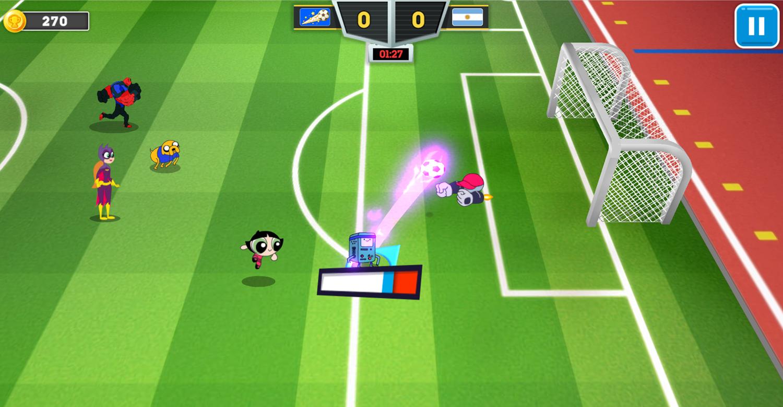 Toon Cup 2020 Shot on Goal Screenshot.