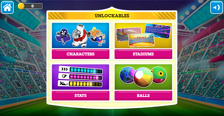 Toon Cup 2020 Unlockables Screen Screenshot.