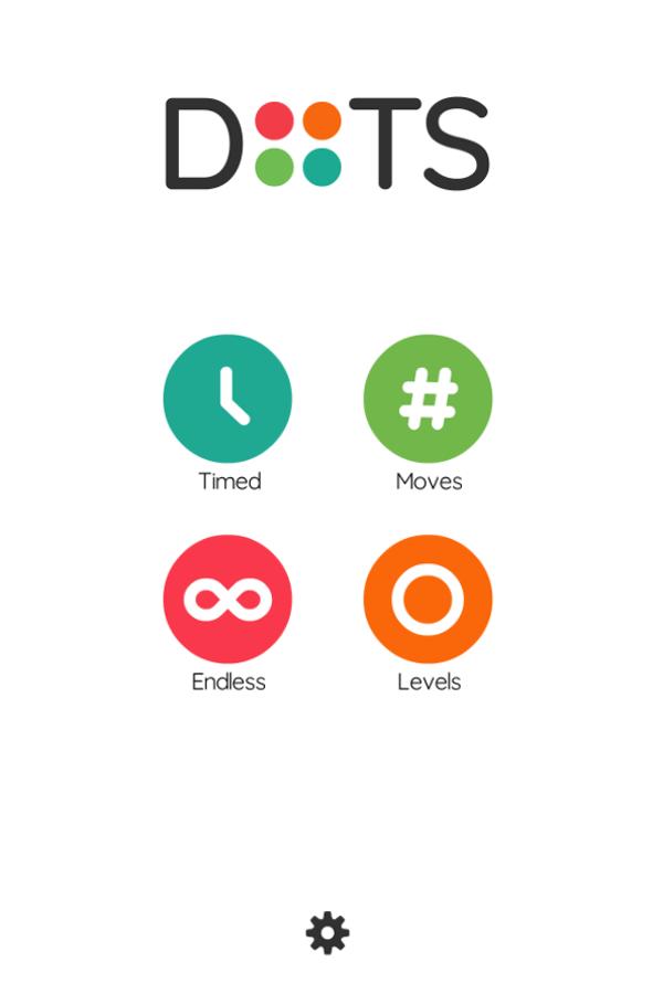 Two Dots Game Welcome Screenshot.