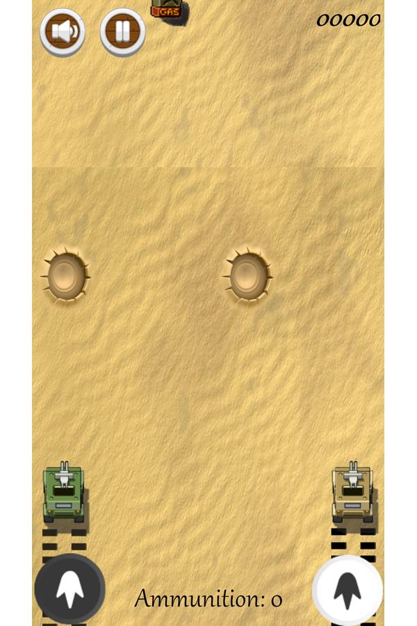 Two Tanks Game Screenshot.