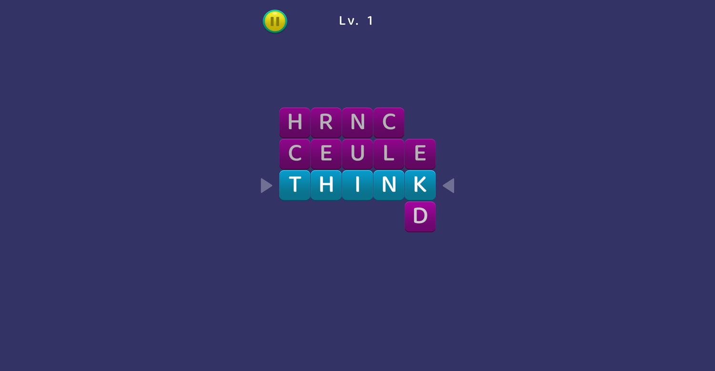TypeShift Game Screenshot.