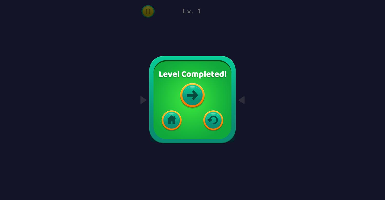 TypeShift Level Complete Screenshot.