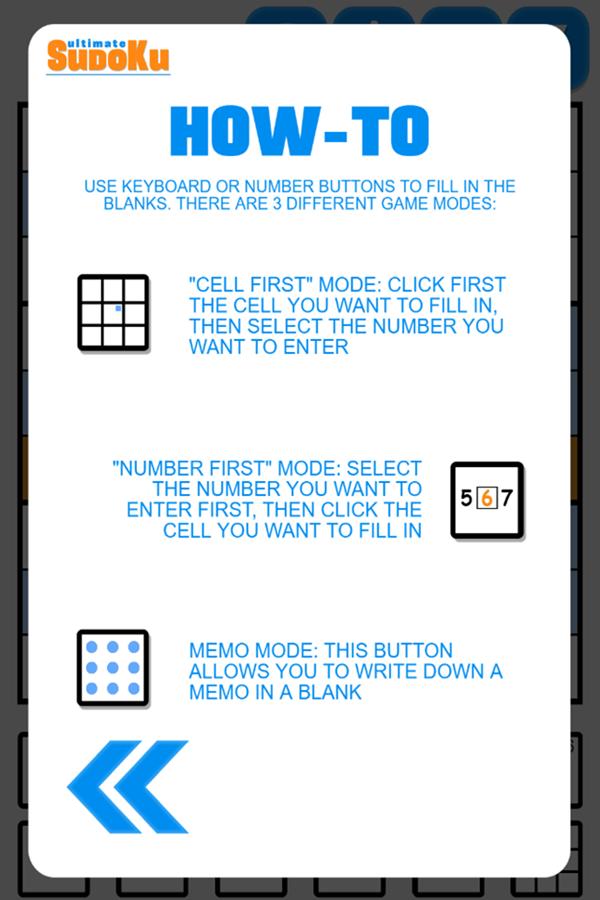 Ultimate Sudoku Game How-To Screenshot.