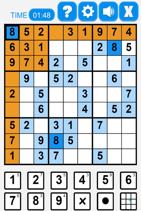 Ultimate Sudoku Game Screenshot.