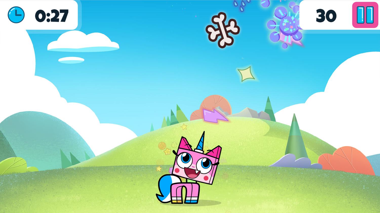 UniKitty Sparkle Blaster Game Screenshot.
