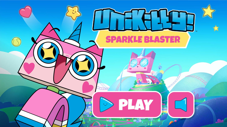 UniKitty Sparkle Blaster Welcome Screen Screenshot.