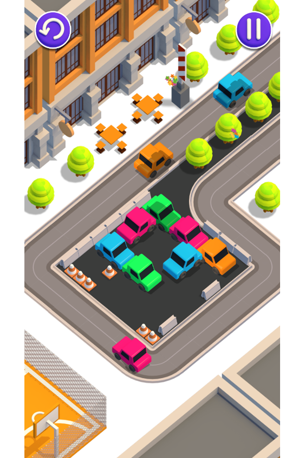 Unpark Jam Multiple Cars Exiting Screenshot.