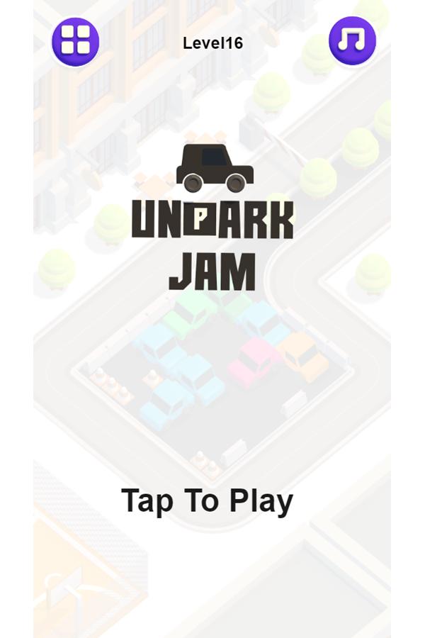 Unpark Jam Welcome Screen Screenshot.