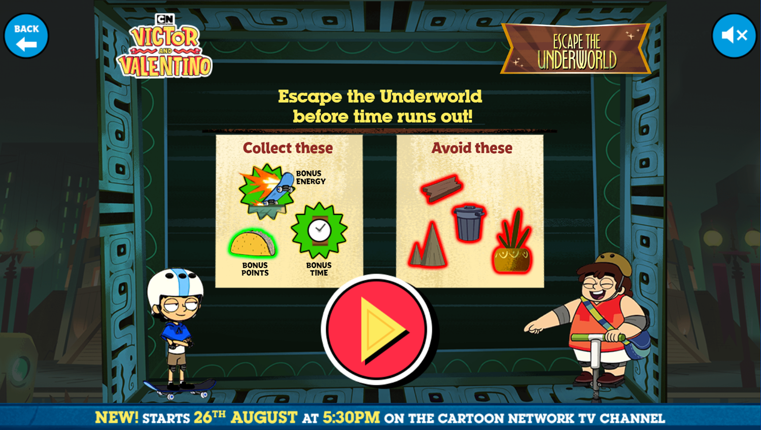 Victor and Valentino Mission to Monte Macabre Case Game Escape The Underworld How To Play Screenshot.
