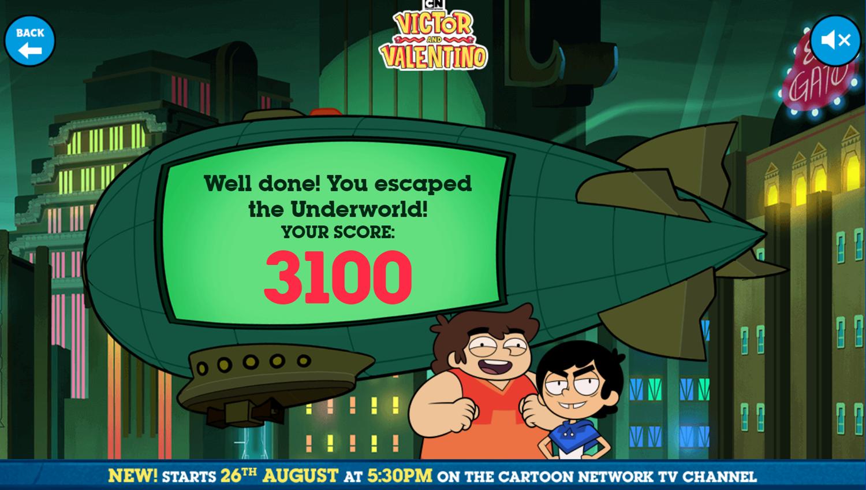 Victor and Valentino Mission to Monte Macabre Case Game Escape The Underworld Score Screenshot.
