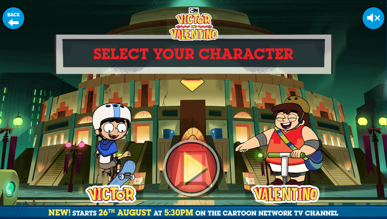 Victor and Valentino Mission to Monte Macabre Case Game Escape The Underworld Select Character Screenshot.