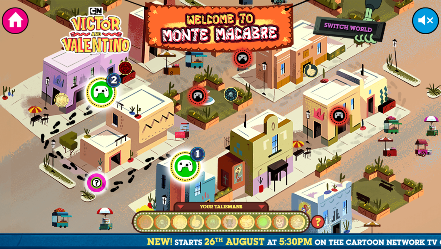 Victor and Valentino Mission to Monte Macabre Case Game Map Screenshot.