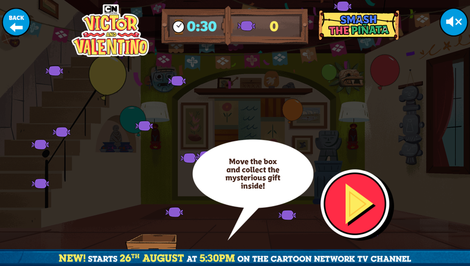 Victor and Valentino Mission to Monte Macabre Case Game Smash The Pinata Candy Collect How To Play Screenshot.