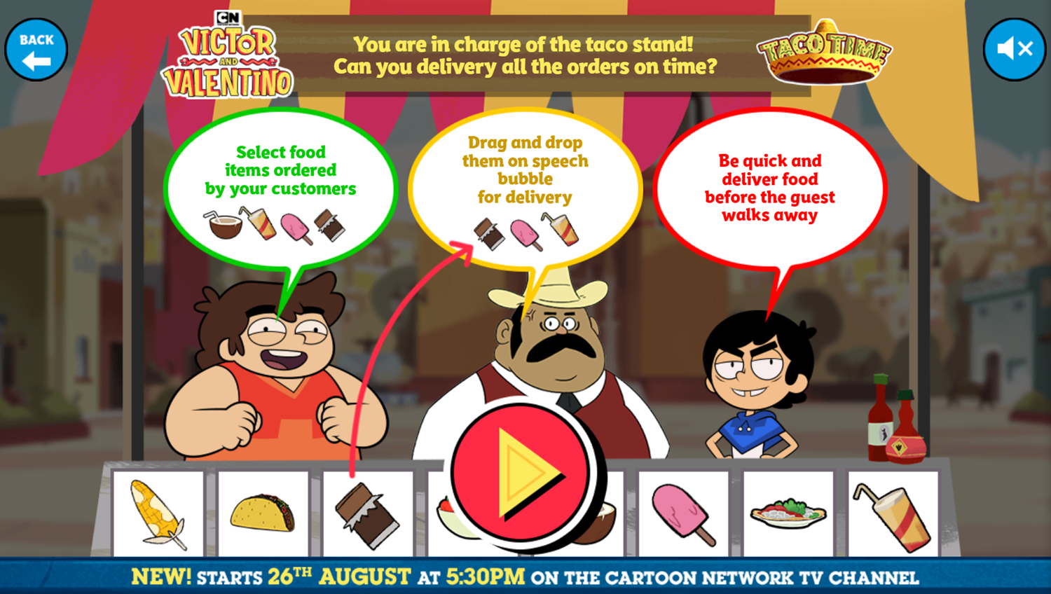 Victor and Valentino Mission to Monte Macabre Case Game Taco Time How To Play Screenshot.