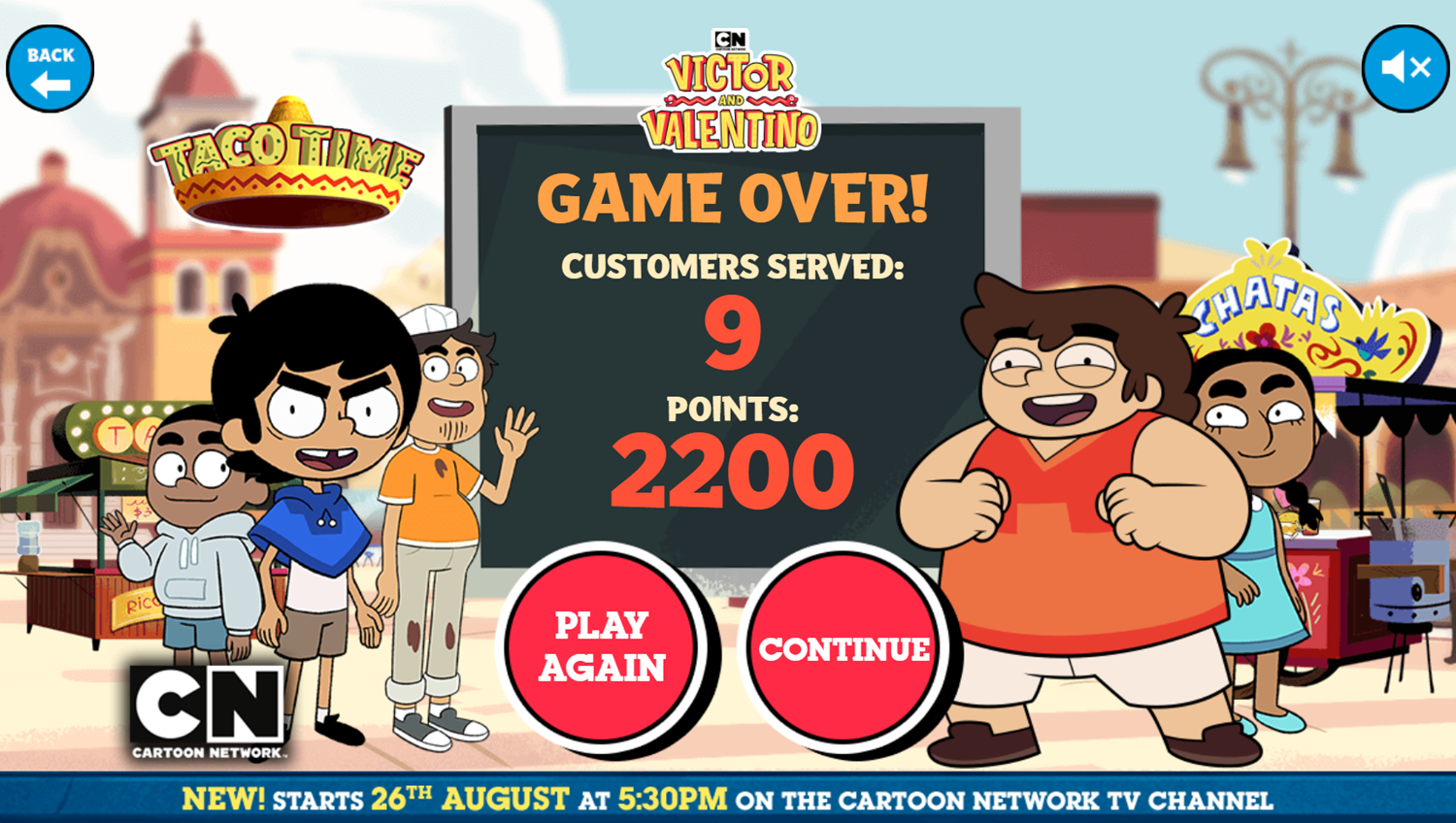 Victor and Valentino Mission to Monte Macabre Case Game Taco Time Score Screenshot.