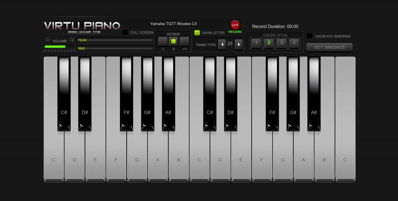 Virtu Piano Color Style 2 Screenshot.