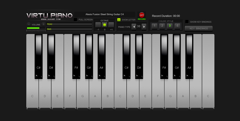 Virtu Piano Color Style 3 Screenshot.
