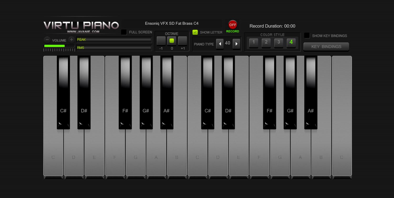 Virtu Piano Style 4 Screenshot.