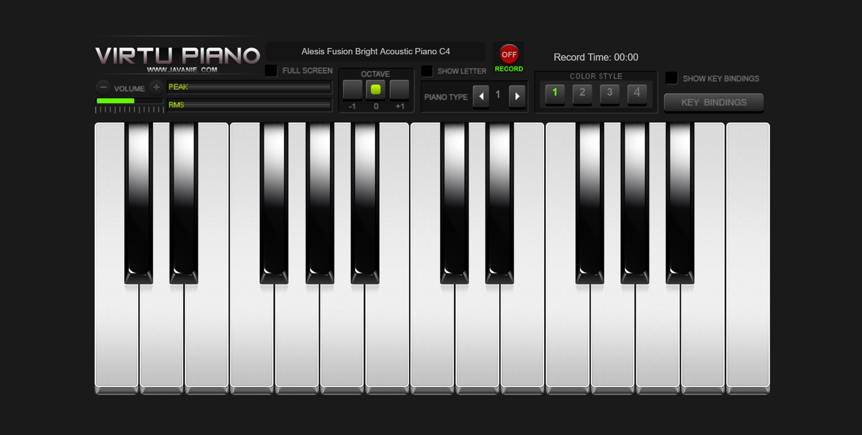 Virtu Piano Virtual Keyboard Screenshot.