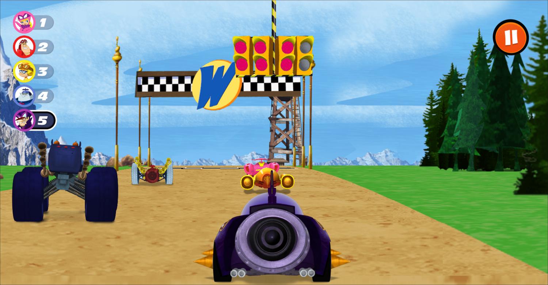 Wacky Races Highway Heroes Game Screenshot.