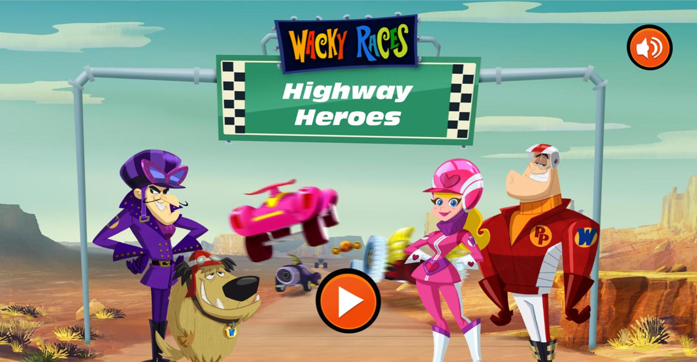 Wacky Races Highway Heroes Welcome Screen Screenshot.