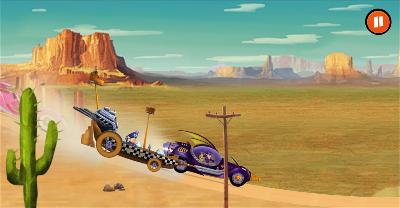 Wacky Races Road Trip Game Screenshot.
