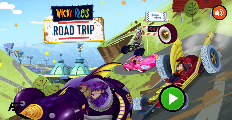 Wacky Races Road Trip Welcome Screen Screenshot.