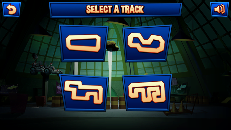 Wacky Races SlingRaces Track Select Screenshot.