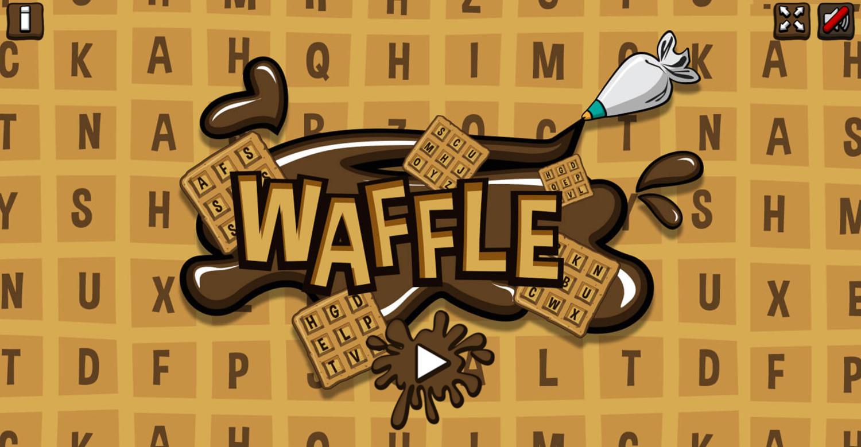 Waffle Game Welcome Screen Screenshot.