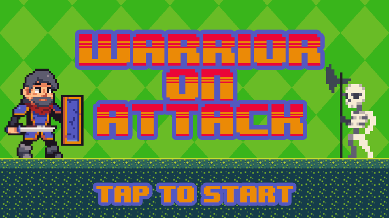 Warrior on Attack Welcome Screen Screenshot.