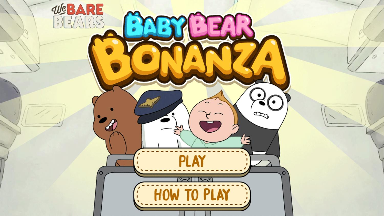 We Bare Bears Baby Bear Bonanza Welcome Screen Screenshot.