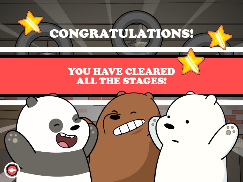 We Bare Bears Bouncy Cubs Game Won Screenshot.