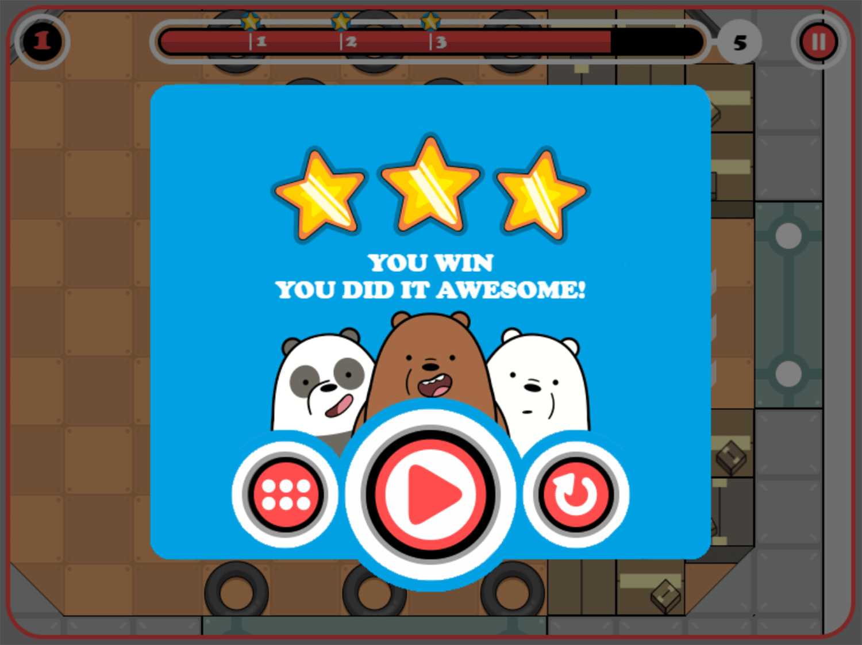 We Bare Bears Bouncy Cubs Result Screenshot.