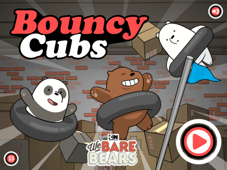 We Bare Bears Bouncy Cubs Welcome Screen Screenshot.