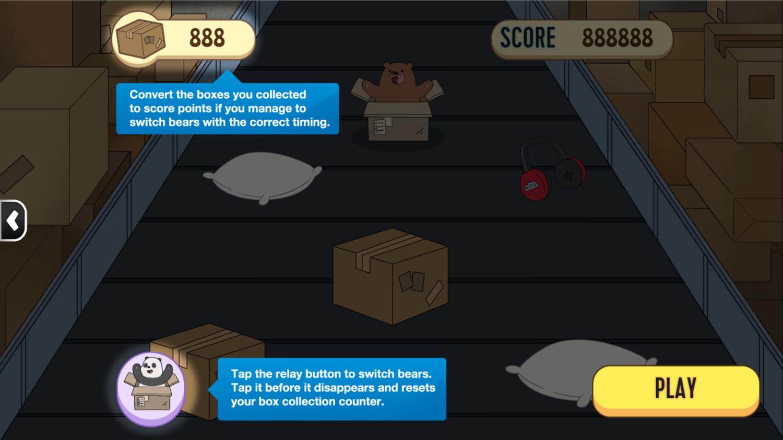 We Bare Bears Box O Mania Game Instructions Screenshot.