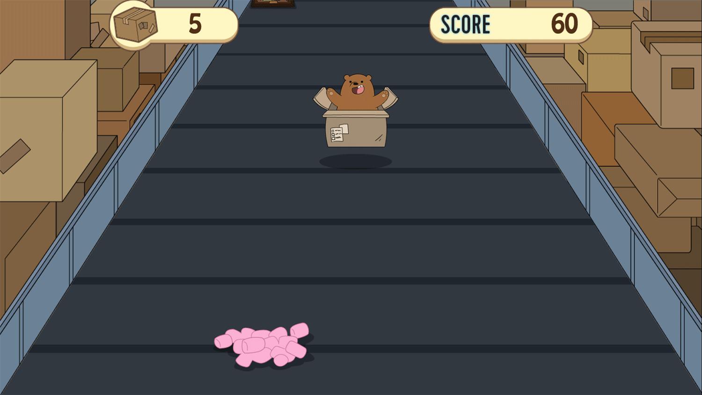 We Bare Bears Box O Mania Game Screenshot.