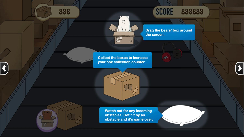 We Bare Bears Box O Mania How To Play Screenshot.