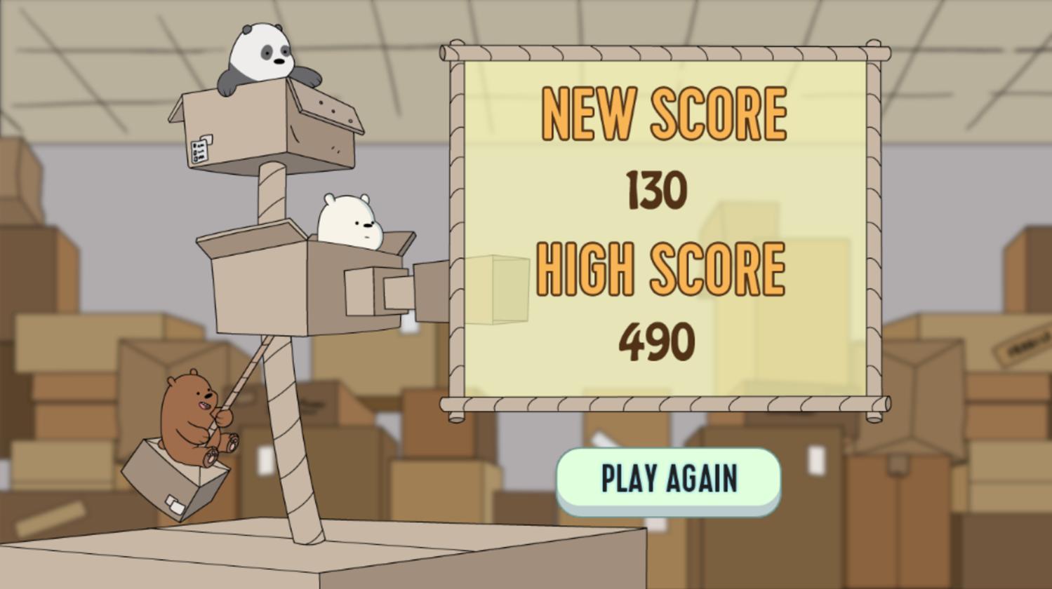 We Bare Bears Box O Mania Results Screenshot.