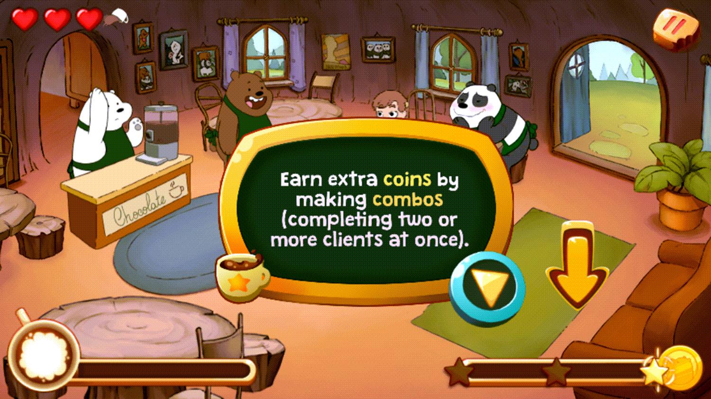 We Bare Bears Chocolate Artist Earn Bonuses Screenshot.