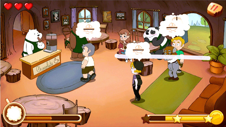 We Bare Bears Chocolate Artist Game Screenshot.
