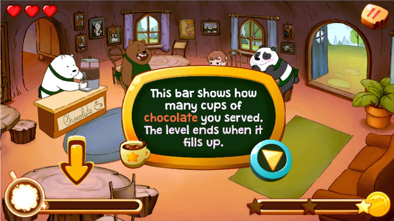 We Bare Bears Chocolate Artist Level Progress Screenshot.